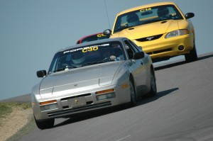 Cars on track at Pitt Race