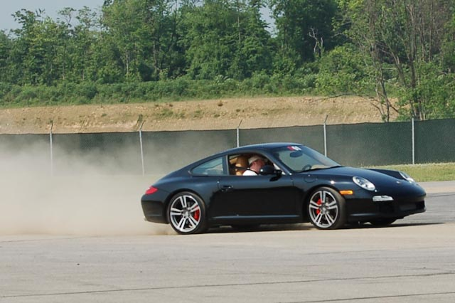 A 911 on the skid pad