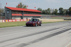 Cathy Graham on the front straight