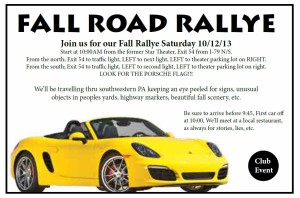 Fall 2013 Road Rallye RS Ad